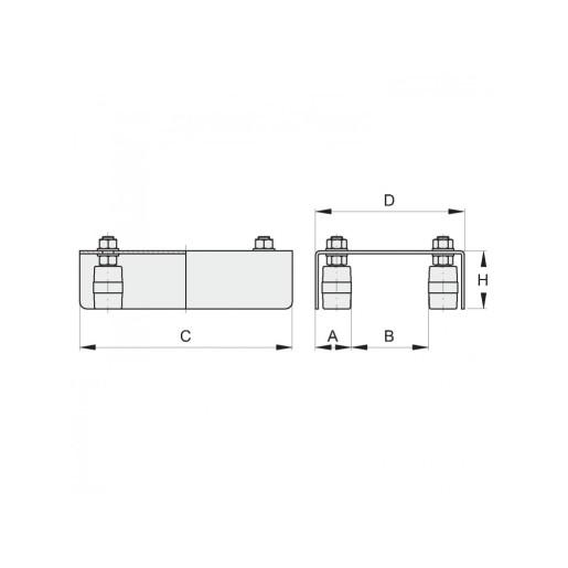 Ghidaj superior reglabil profil 110mm max