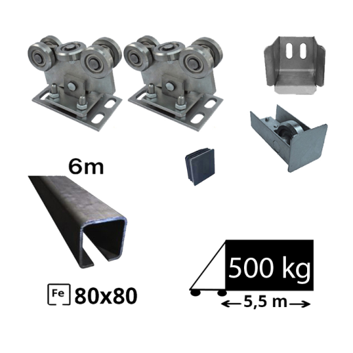 Kit Poarta Autoportanta seria mediu 6m deschidere 400kg FE