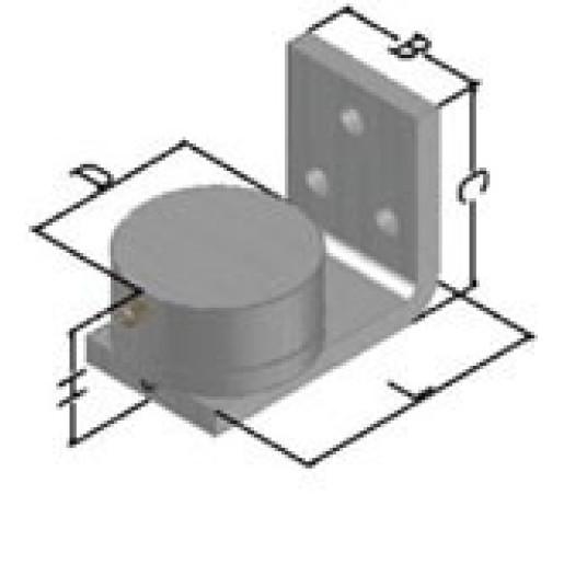 Balama inferioara pe rulment cu placa de fixare diametru 70mm