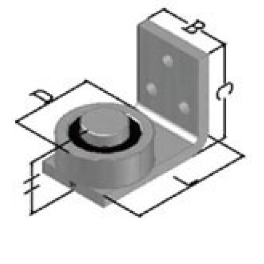 Balama superioara pe rulment cu placa de fixare diametru 50 mm