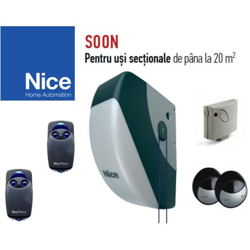 Automatizare pentru usi sectionale de pana la 20m², Nice Soon Kit