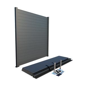 Panou gard modern, 100% aluminium, Gri antracit RAL 7016