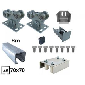 Kit Poarta Autoportanta seria small 5m deschidere 300 kg - 3 sine