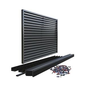 Panou gard modern jaluzea, 100% aluminium, Gri antracit RAL 7016