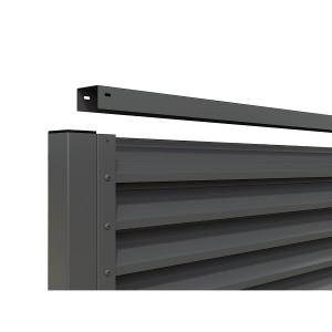 Cadru gard aluminiu de tip jaluzea, RAL 7016