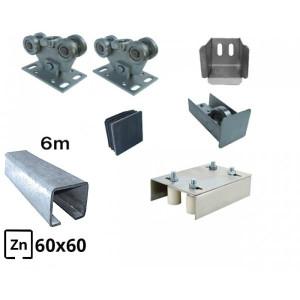 Kit Poarta Autoportanta seria small 4m deschidere 250kg - 2 sine