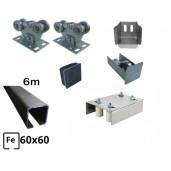 Kit Poarta Autoportanta seria small 4m deschidere 250kg NG - 2 sine