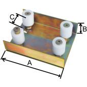 CH440 Ghidaj superior in forma de U cu 4 role Ø 41 mm