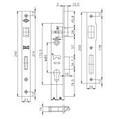 K153-35 Broasca Kale 153-35 pentru profil rectangular 40x30 mm