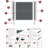 Profil inchidere stalp gard aluminiu, RAL 7016